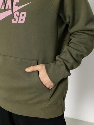 Bluza z kapturem Nike SB Sb Icon HD (medium olive/elemental pink)