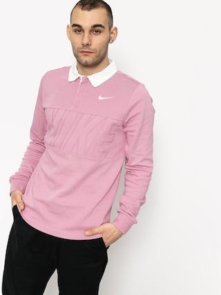 Longsleeve Nike SB Dry Top Rugby (elemental pink/white)