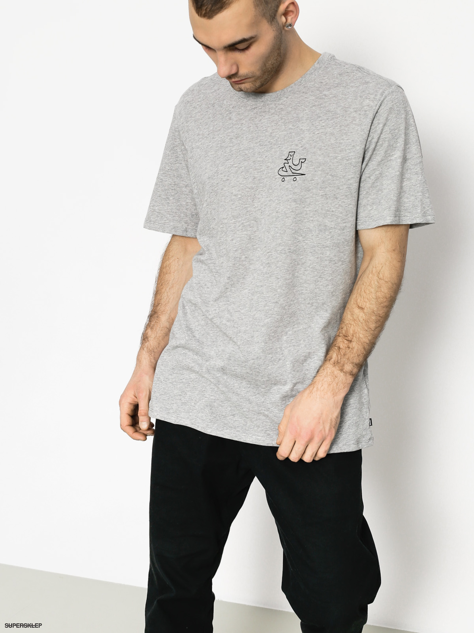 T-shirt Nike SB Dry Dfc Swooshie (dk grey heather/black)