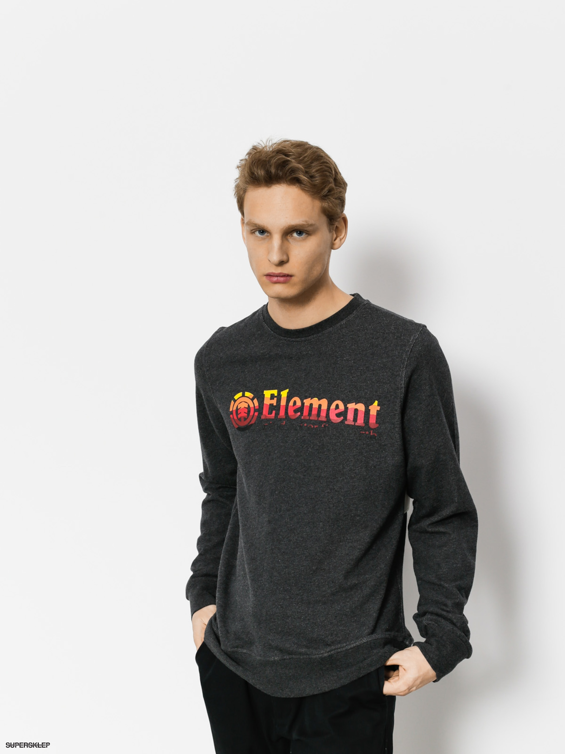Bluza Element Horizontal Fill Crew (charcoal heathe)