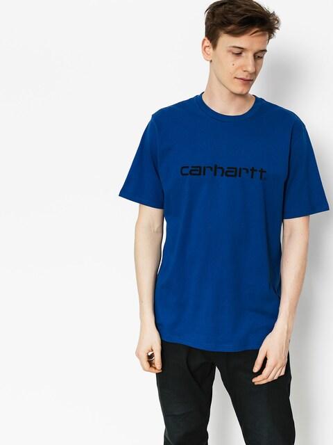 T-shirt Carhartt Script (sapphire/black)