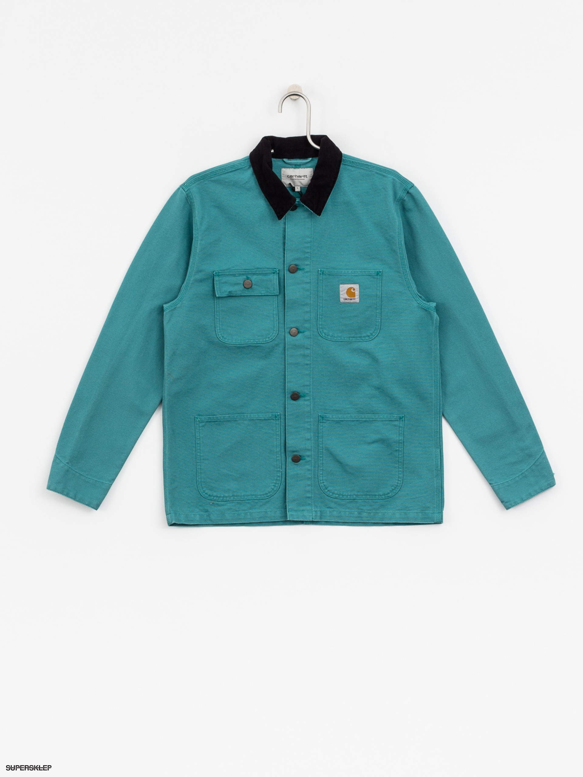 Kurtka Carhartt Michigan Chore Coat (soft teal/dark navy)