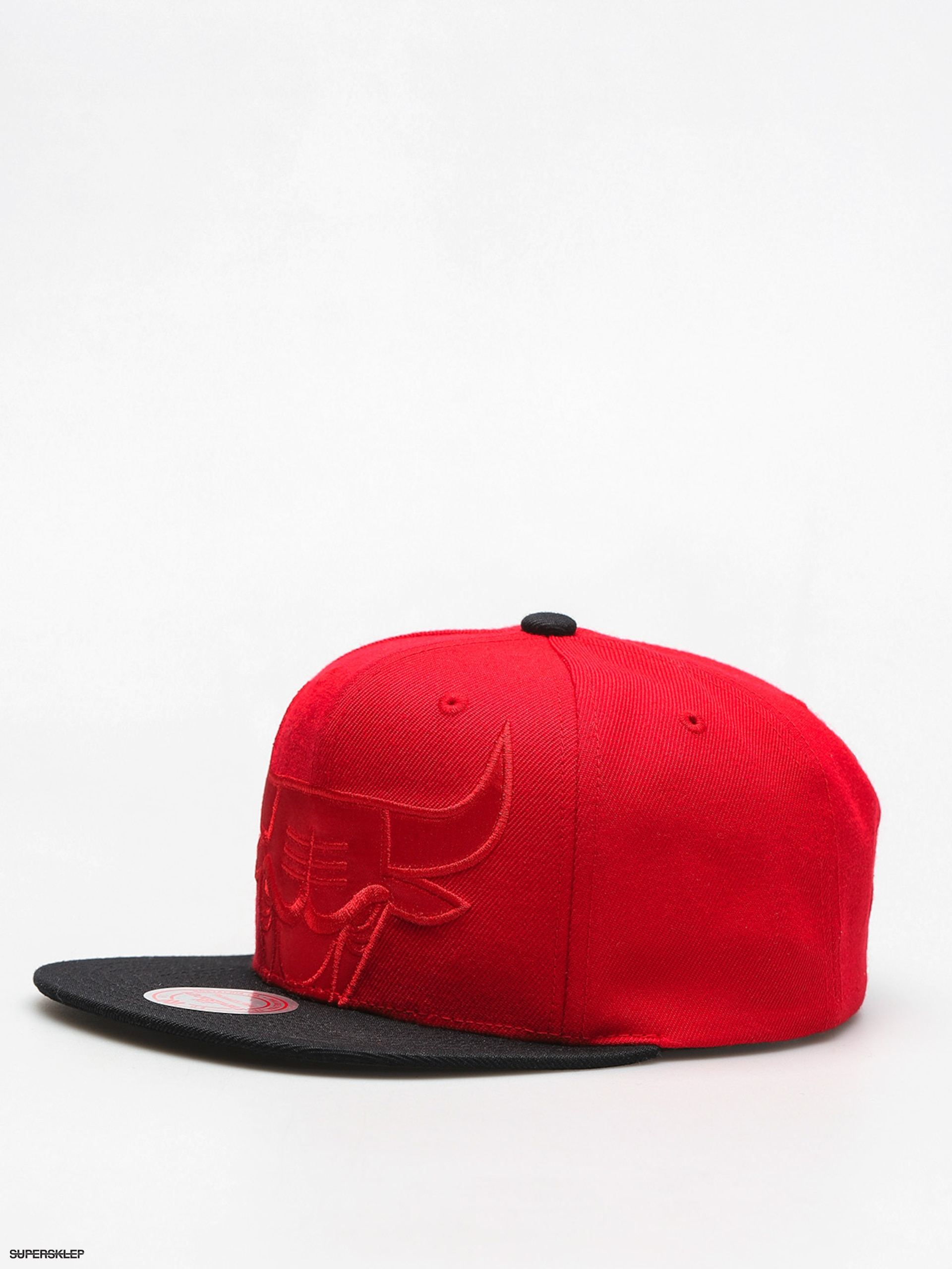 Czapka z daszkiem Mitchell & Ness Cropped Satin ZD (red/black)