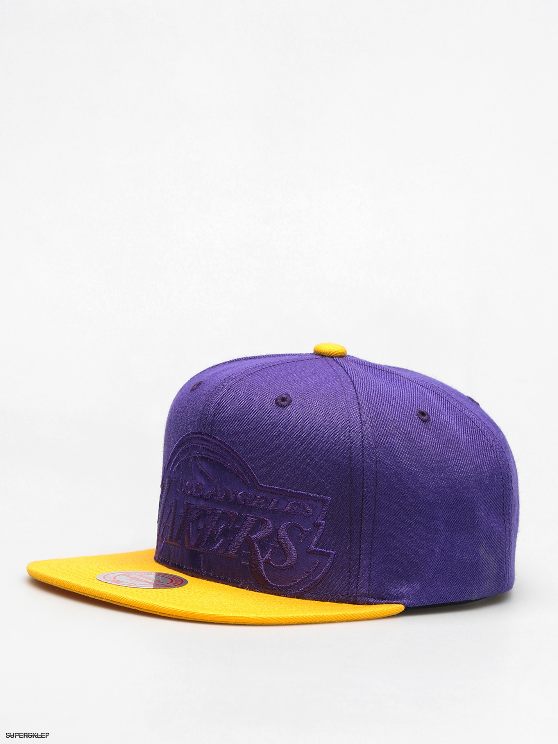 Czapka z daszkiem Mitchell & Ness Cropped Satin ZD (purple/yellow)