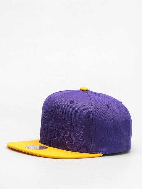 Czapka z daszkiem Mitchell & Ness Cropped Satin ZD (purple/yellow)