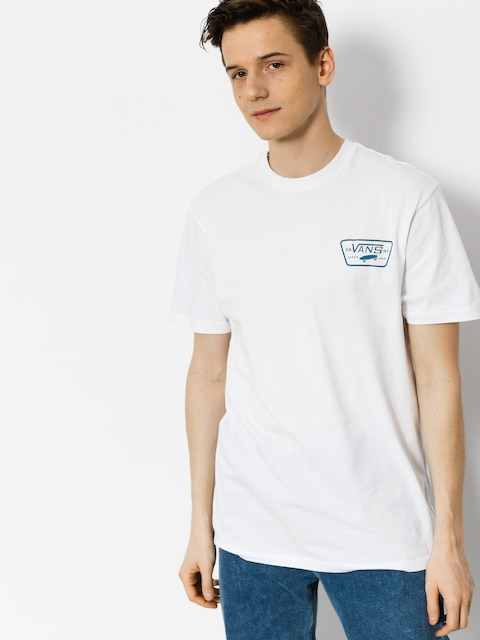 T-shirt Vans Full Patch Back (white black)