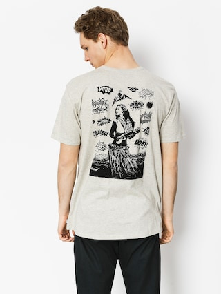 T-shirt Quiksilver Organic Long Lost (snow white heather)