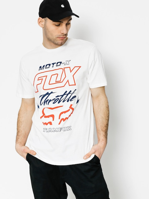 T-shirt Fox Throttled Premium (opt wht)
