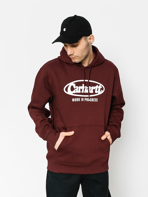 Bluza z kapturem Carhartt Oval HD (chianti/white)