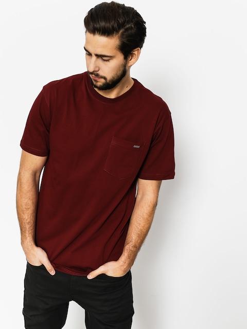 T-shirt Nervous Pocket (maroon)