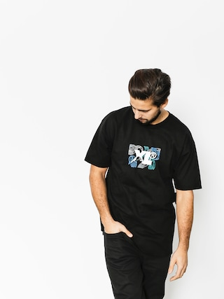 T-shirt XLARGE Leaf Xl (black)