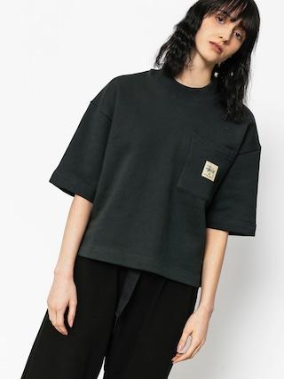 T-shirt Stussy Juno Boxy Mock Neck Wmn (black)
