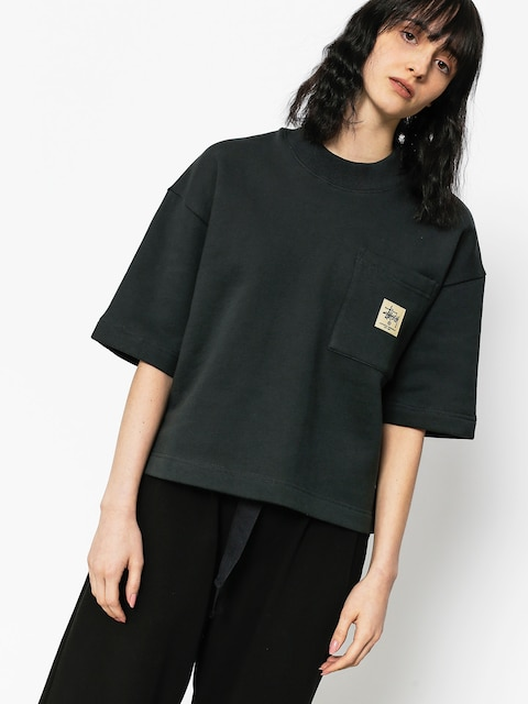 T-shirt Stussy Juno Boxy Mock Neck Wmn