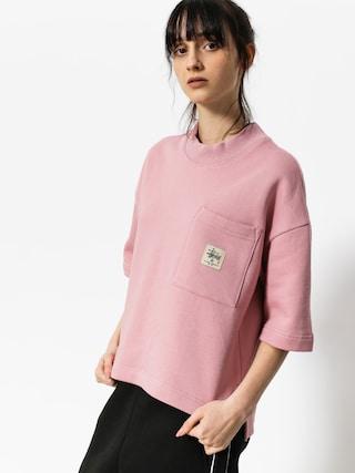 T-shirt Stussy Juno Boxy Mock Neck Wmn (pink)