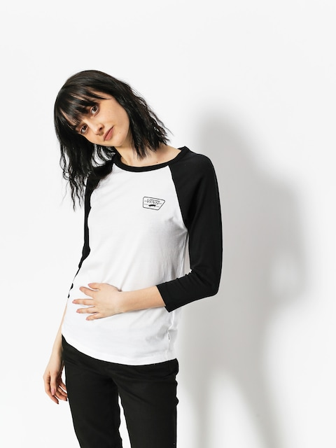 Koszulka Vans Full Patch Raglan Wmn (white black)