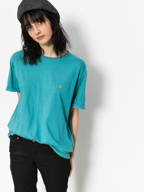 T-shirt Carhartt Chase Wmn (soft teal/gold)