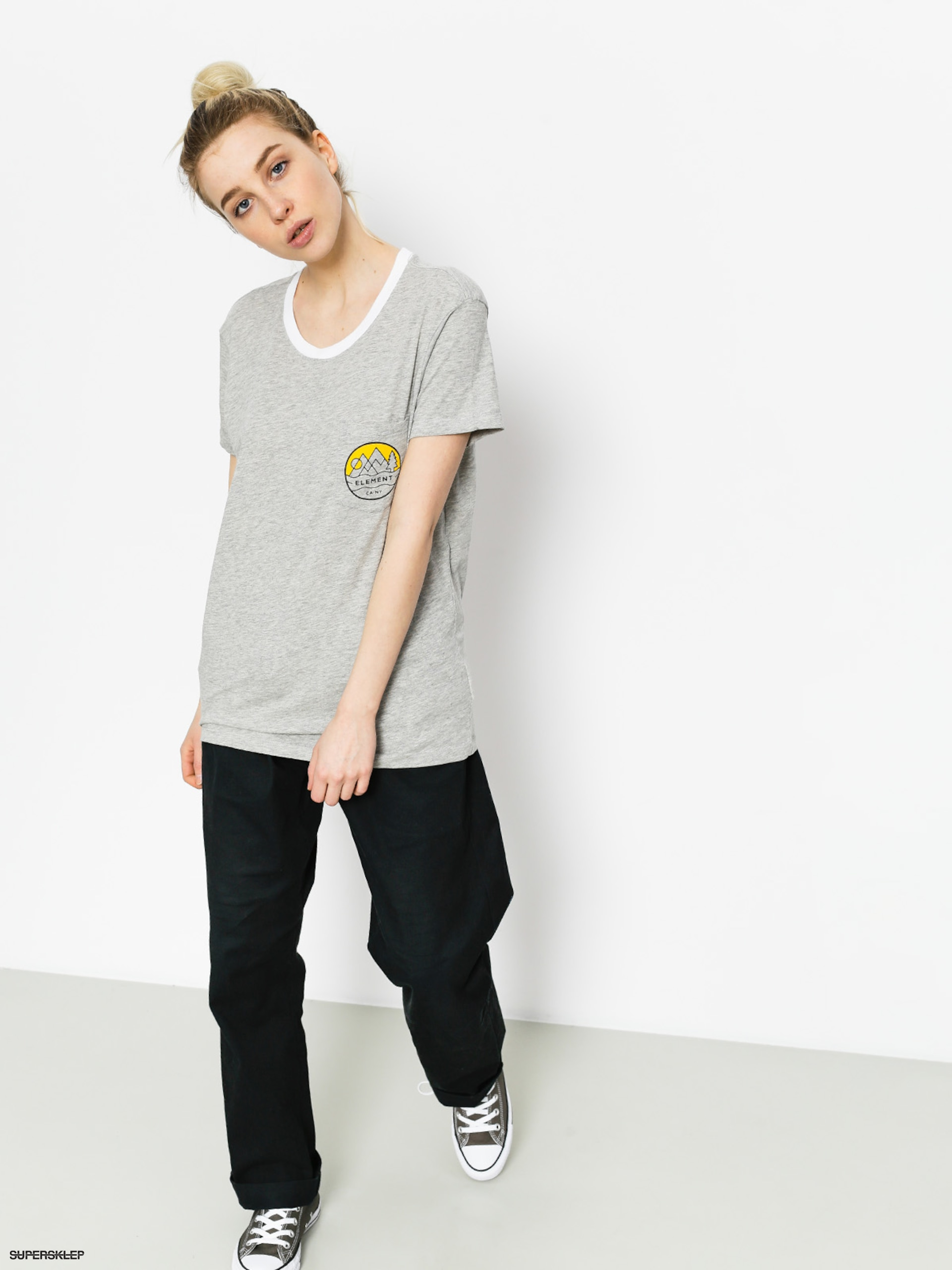 T-shirt Element Camp Ringer Wmn (heather grey)
