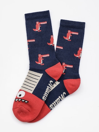 Skarpetki Malita Crocodiles (navy/red)