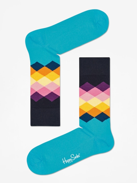 Skarpetki Happy Socks Faded Diamond (mint/multi/black)
