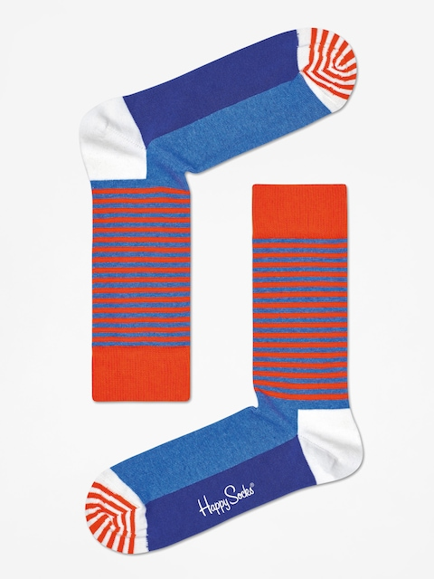 Skarpetki Happy Socks Half Stripe (orange/blue)