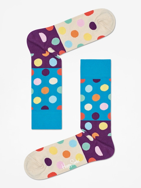 Skarpetki Happy Socks Big Dot Block (green/purple/sand)