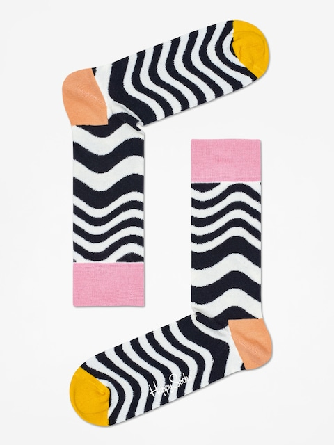 Skarpetki Happy Socks Wavy Stripe (white/black)