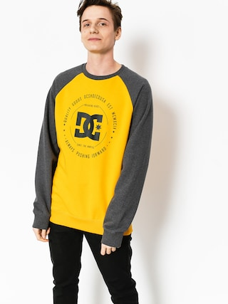 Bluza DC Rebuilt Crew (heather charcoal/old gold)