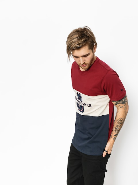T-shirt New Era World Tricolor (maroon/tan/navy)
