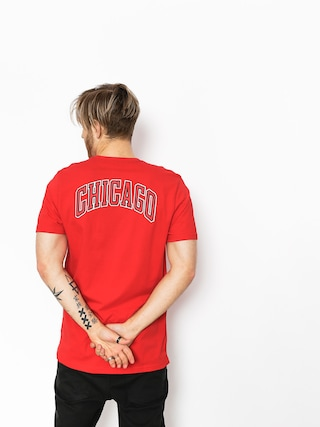 T-shirt New Era Tip Off Chest N Back Chicago Bulls (red)