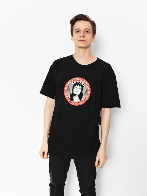 T-shirt OBEY Obey Wake Up Silent Majority (blk)
