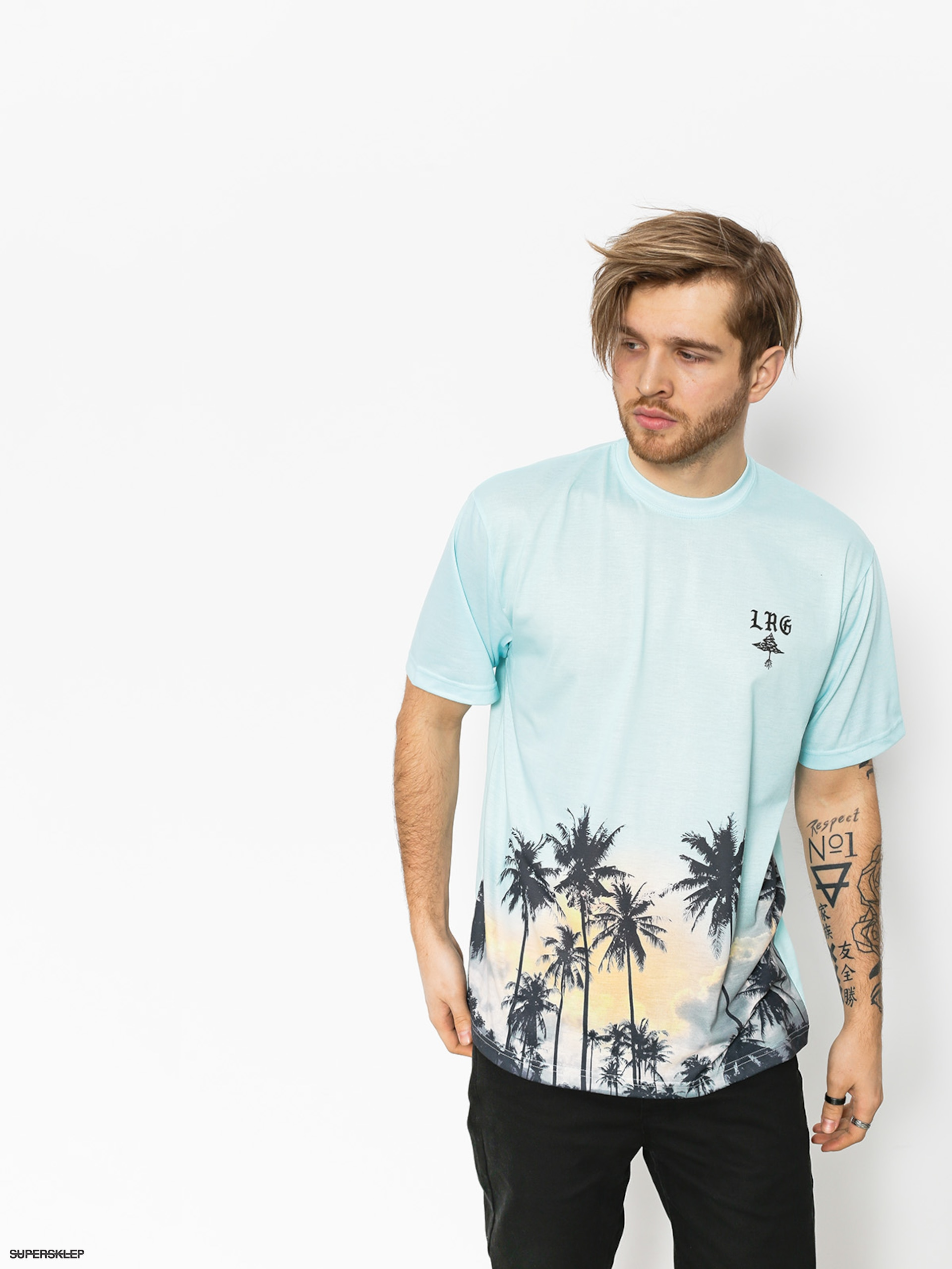 T-shirt LRG Palm Tree Knit (powder blue)