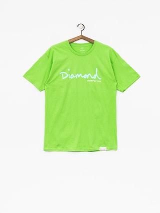 T-shirt Diamond Supply Co. Og Script (lime)