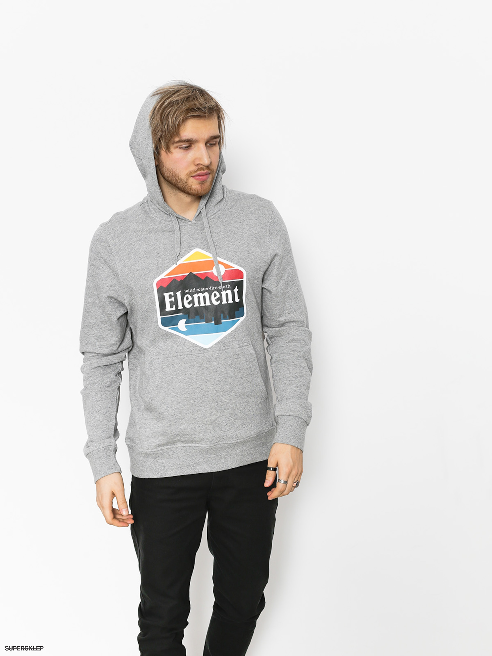 Bluza z kapturem Element Dusk HD (grey heather)