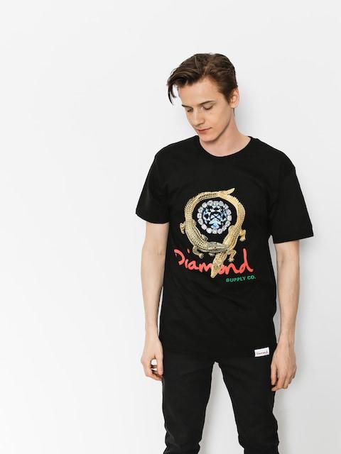 T-shirt Diamond Supply Co. Alligator (black)