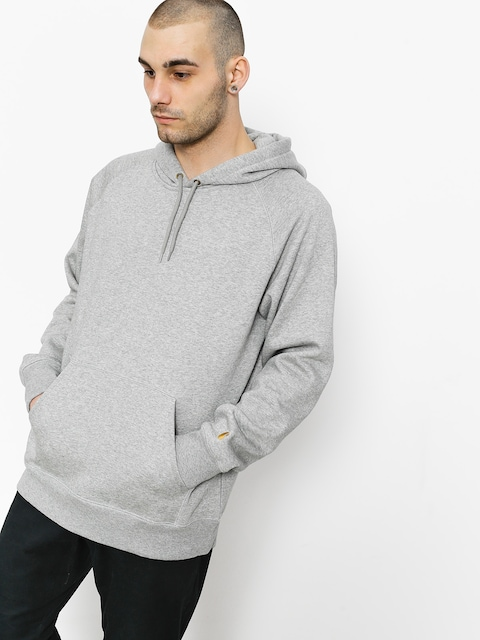 Bluza z kapturem Carhartt Chase HD (grey heather/gold)