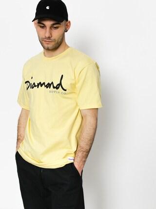 T-shirt Diamond Supply Co. Og Script (banana)