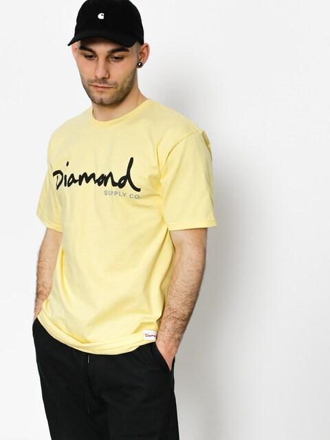 T-shirt Diamond Supply Co. Og Script