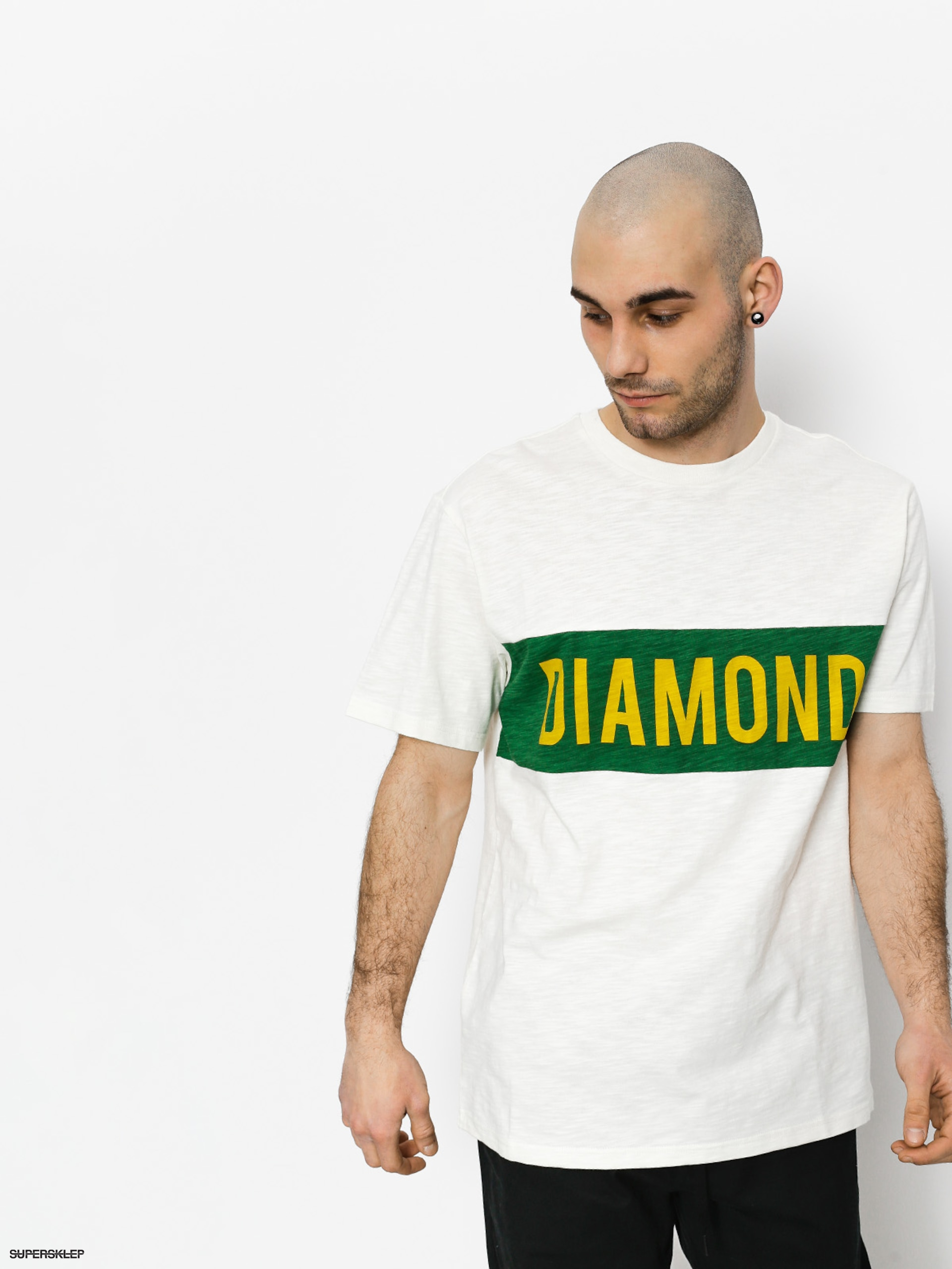 T-shirt Diamond Supply Co. Elliot (cream)