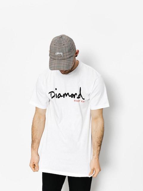 T-shirt Diamond Supply Co. Og Script (white)