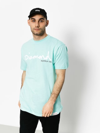 T-shirt Diamond Supply Co. Og Script (diamond blue)