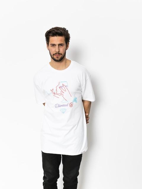 T-shirt Diamond Supply Co. Vino (white)