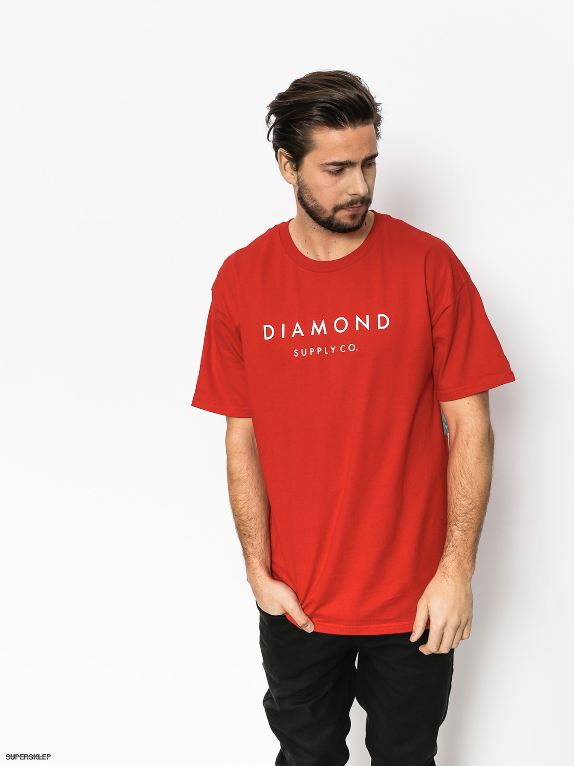 T-shirt Diamond Supply Co. Stone Cut (red)