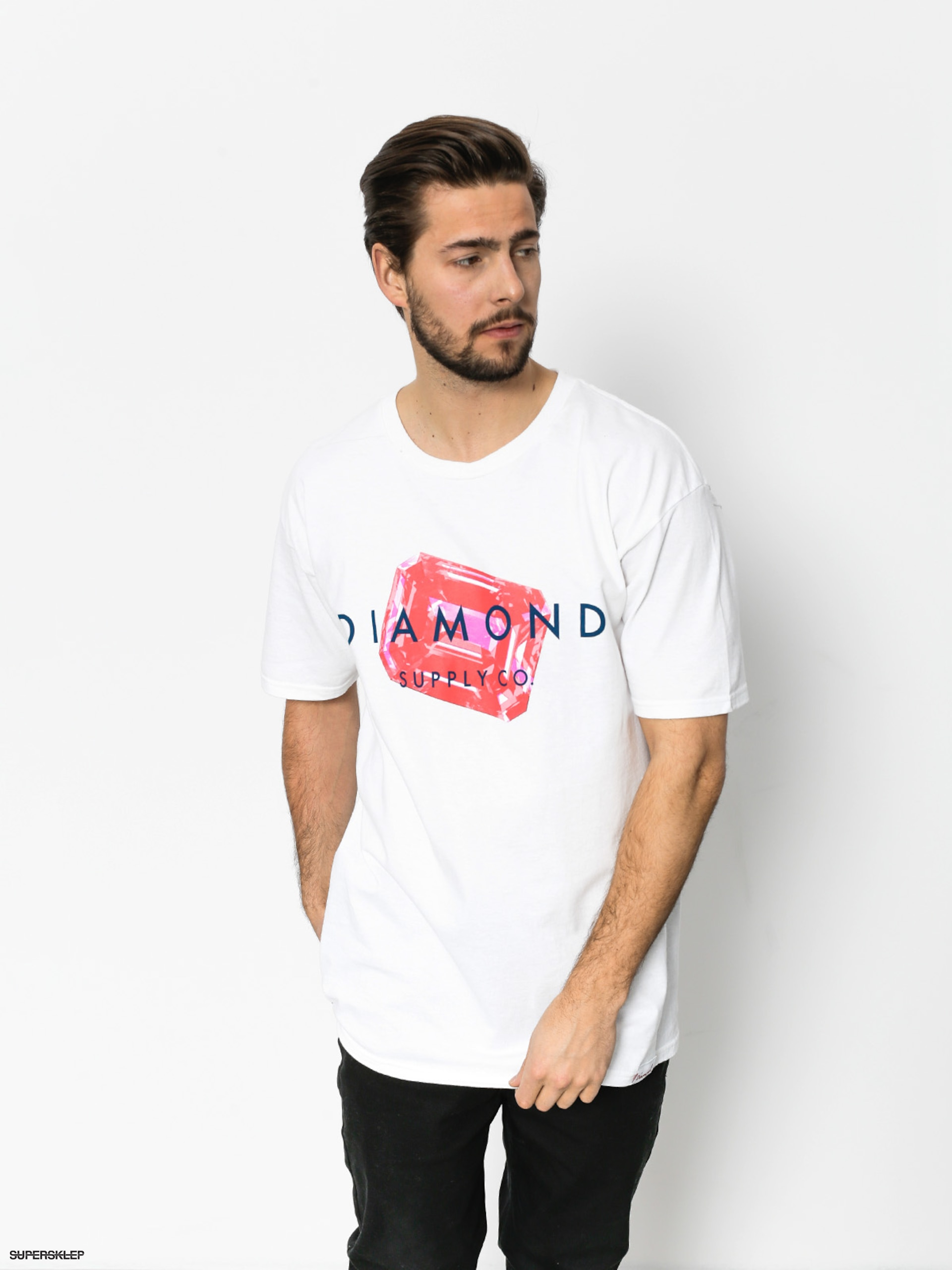 T-shirt Diamond Supply Co. Radiant Stone (white)