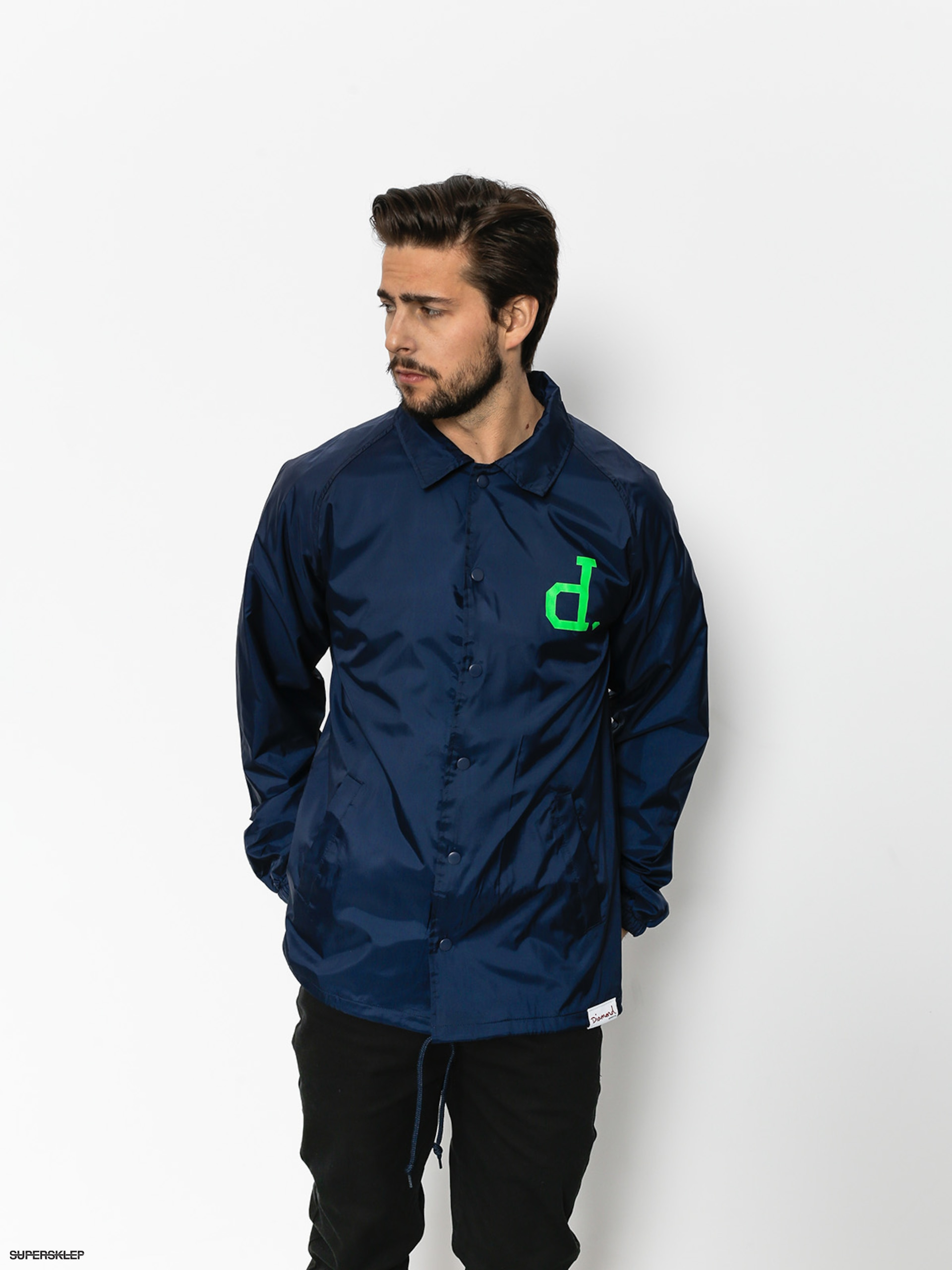 Kurtka Diamond Supply Co. Un Polo Coaches (navy)