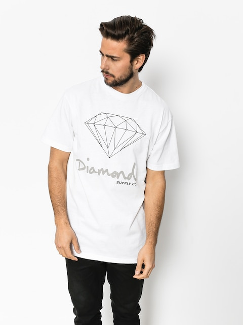 T-shirt Diamond Supply Co. Og Sign (white)