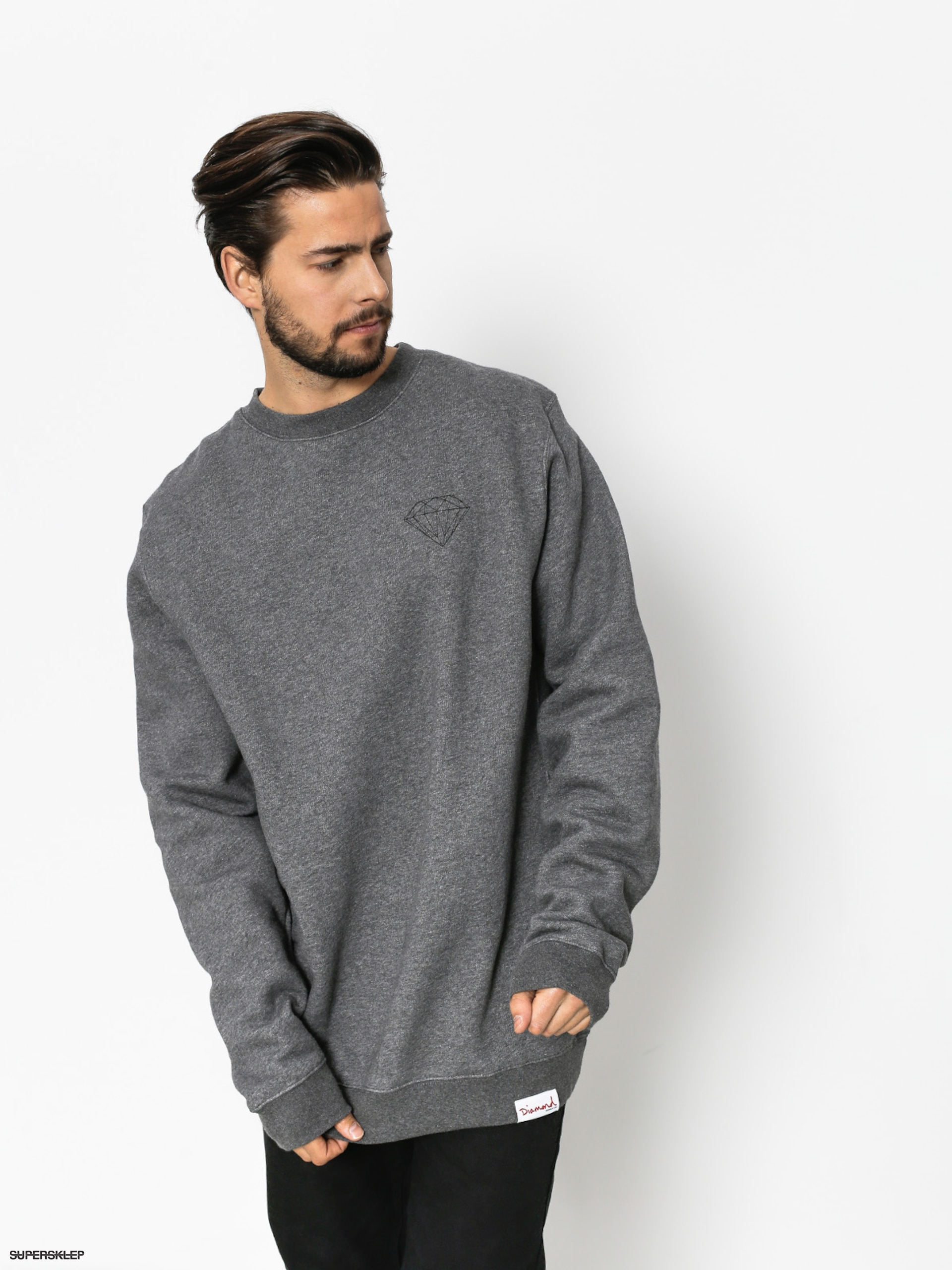 Bluza Diamond Supply Co. Brilliant (gunmetal heather)