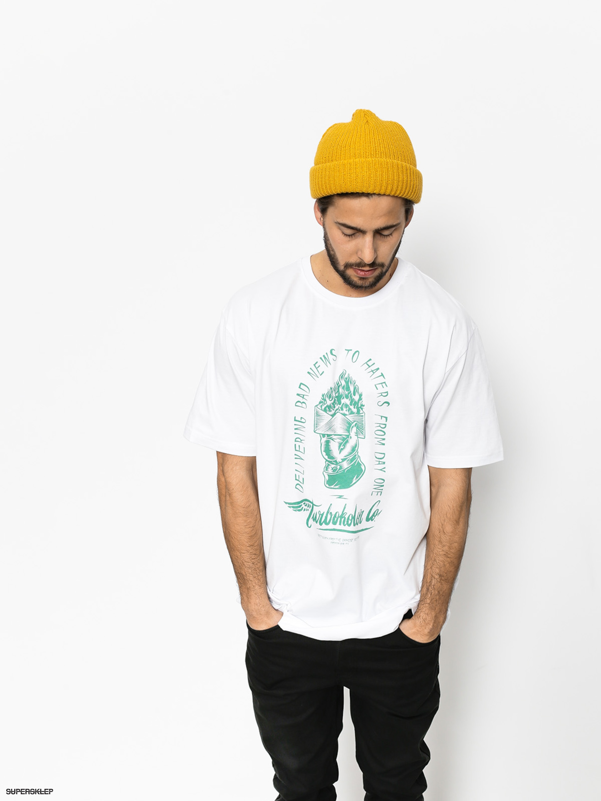 T-shirt Turbokolor Bad News (white)
