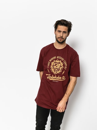 T-shirt Turbokolor Lotos (burgundy)