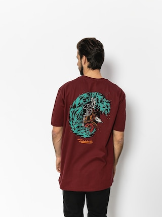 T-shirt Turbokolor Petrol (burgundy)