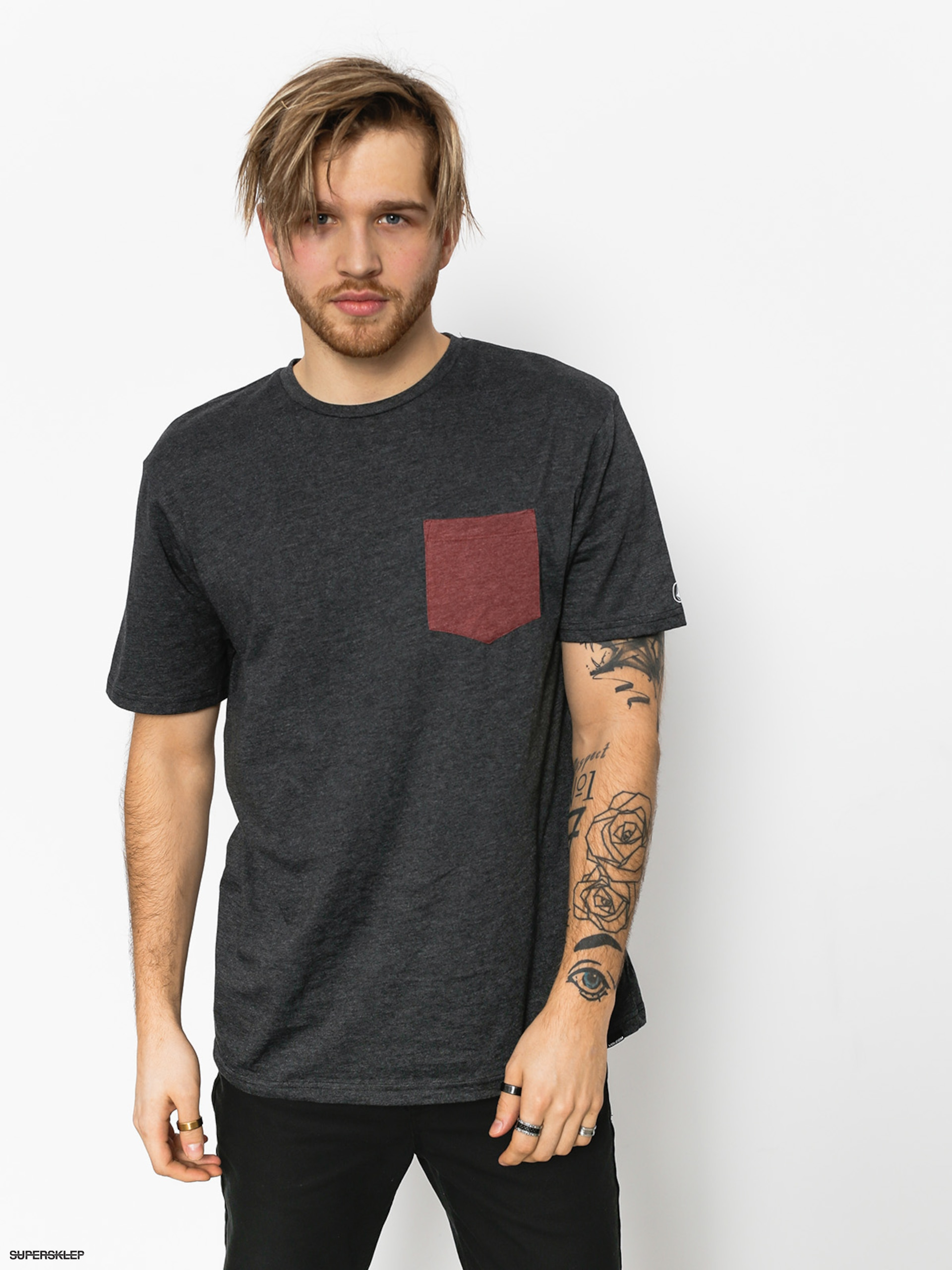 T-shirt Volcom Pocket Hth